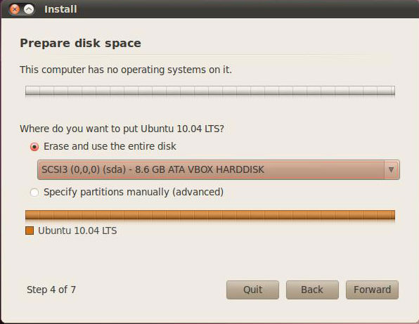ubuntu-install-prepare-disk-space
