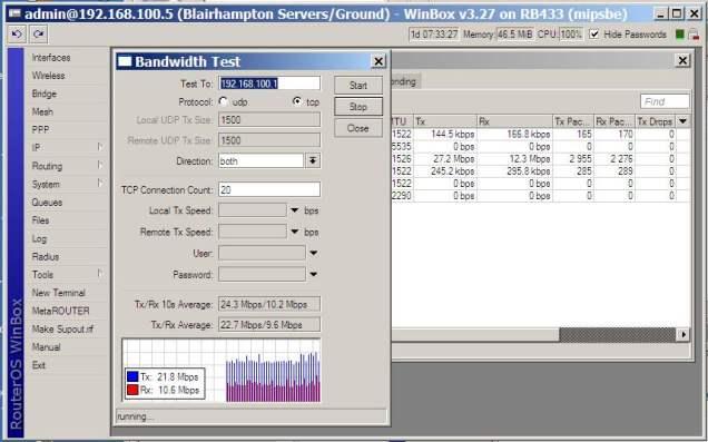 Bandwidth Test Using MikroTik – Linux Information & Scripting