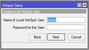 create hotspot user