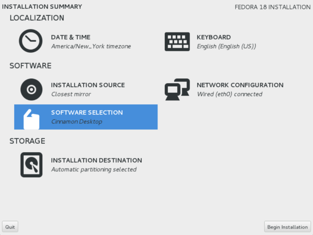 fedora-software-selection