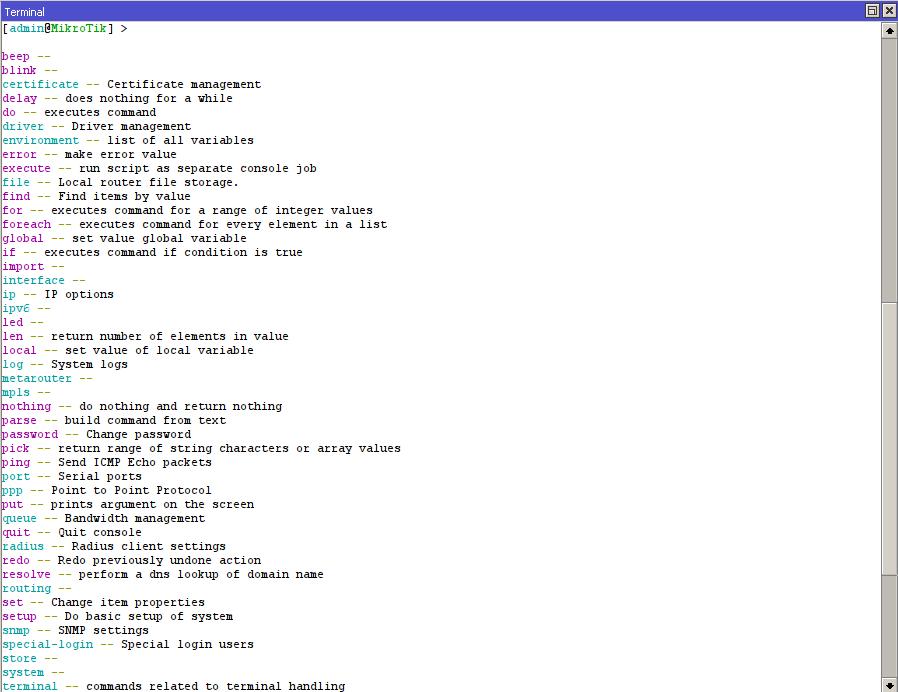 MikroTik Commands – Linux Information & Scripting