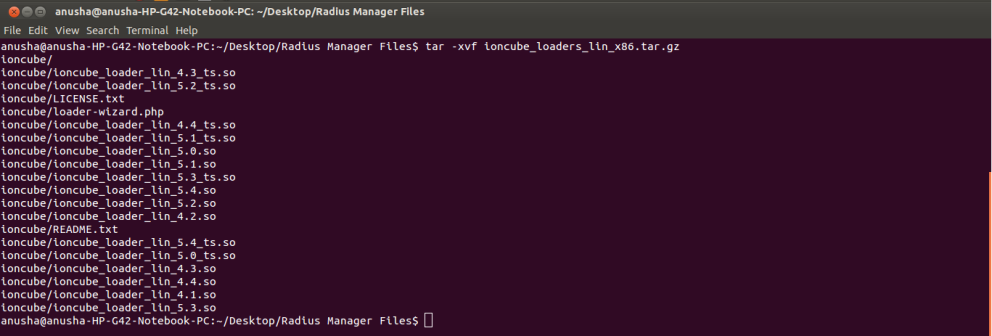 How to extract gzip and tar files on the command line