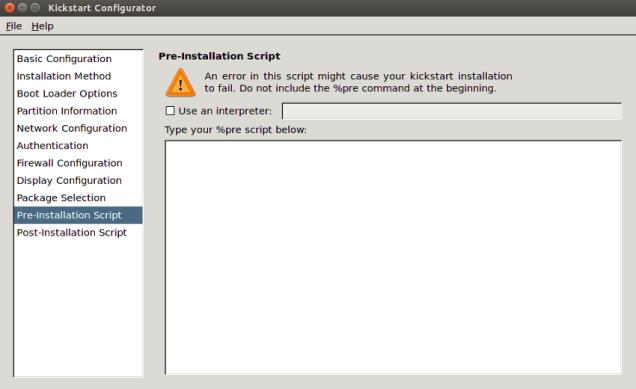 kickstart_pre_installation_script